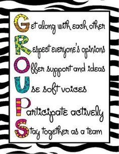 Colorful Cooperative Learning Poster- Having posters around the classroom to help students remember ways to work together will help build community and establish expectations.
