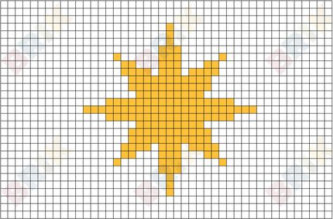 Star Of Bethlehem Pixel Art Pixel Art Star Quilt Patterns