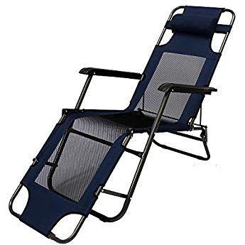 Amanka Faltbare Campingliege Freizeitliege Verstellbare Gartenliege Liegestuhl Mit Nackenstutze Klappliege In Du Outdoor Chairs Gravity Chair Outdoor Furniture