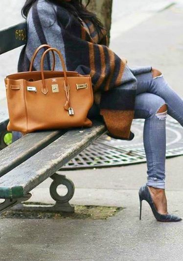 Image result for street style birkin tan