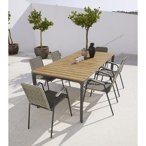 Table de jardin 6/8 personnes en composite et aluminium L200 ...