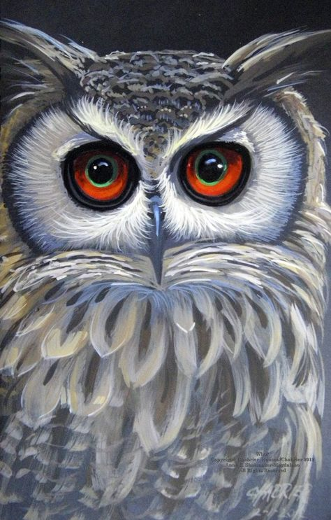 Who are you, and how soon will you be departing? 7 X 10 Portrait of an Owl painted in watercolor.