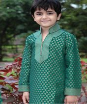 A loose fitting dress like Kurta Pajama particularly in cotton would make your son navigate through his duties with ease. Sleeping at night with cotton Kurta Pajama is a very comfortable option.