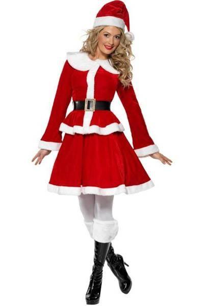 Santa Sweetie Christmas Costume Fancy Dress Womens New