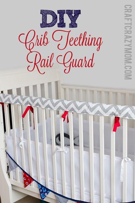 Crib Teething Rail Guard Tutorial Craft Crazy Mom Diy Crib Baby Sewing Diy Baby Stuff