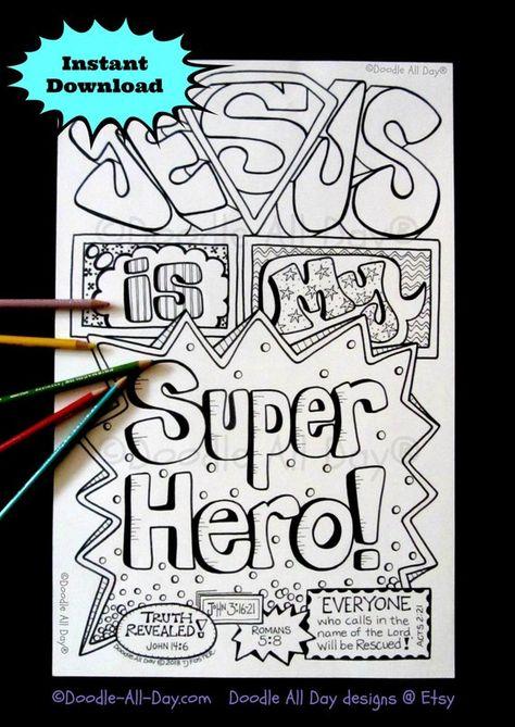 Jesus is my Superhero 8.5x11 printable
