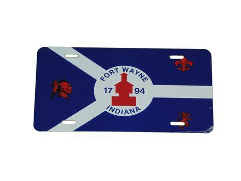 Croatia Croatian National Flag License Plate 6 X 12 Inches Alluminum New