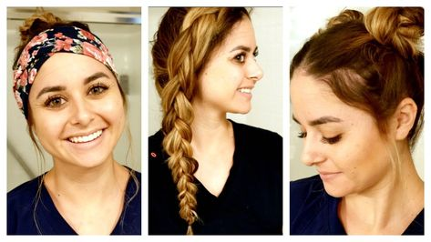 Realistic Nursing Hairstyles Youtube Nurse Hairstyles Work Hairstyles Easy Hairstyles