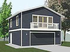 Garage Plan 95880   Southwest Vacation Plan with 1091 Sq. Ft., 1 ...