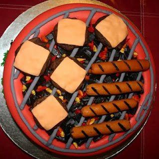 BBQ cake idea.