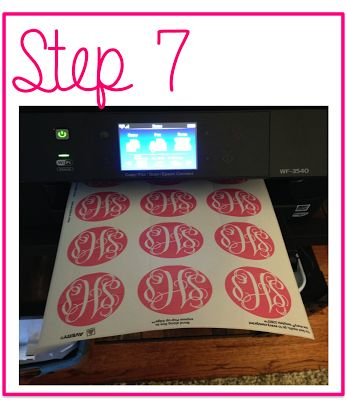 How to make monogrammed stickers using Avery labels