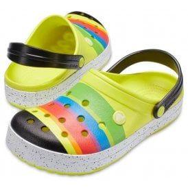 tehdashinta 100% aito parhaat lenkkarit Crocs Crocs Colour Burst Women's Tennis Ball Green And Black ...