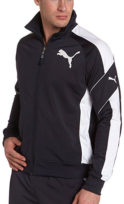 PUMA Young Men's Tricot Track Jacket, New Navy, Small at ...