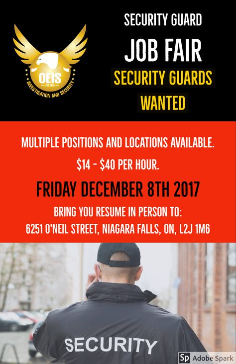 SECURITY GUARDS WANTED OEIS Investigation and Security - security agent sample resume