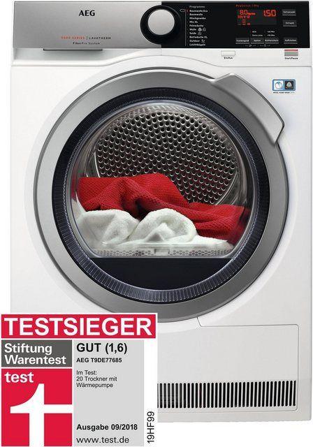 Aeg Warmepumpentrockner T9de77685 8 Kg Energieeffizienzklasse A A Bis D Online Kaufen Mit Bildern Warmepumpentrockner Warmepumpe Trockner Auf Waschmaschine