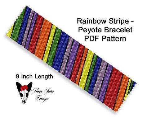 Tiny Rainbow Peyote Stitched Ankle Bracelet