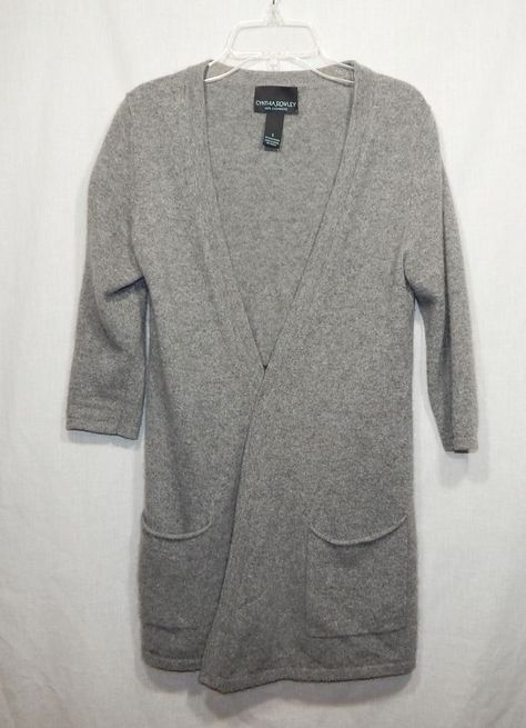 CYNTHIA ROWLEY WOMENS 100% CASHMERE TOPPER SWEATER SMALL