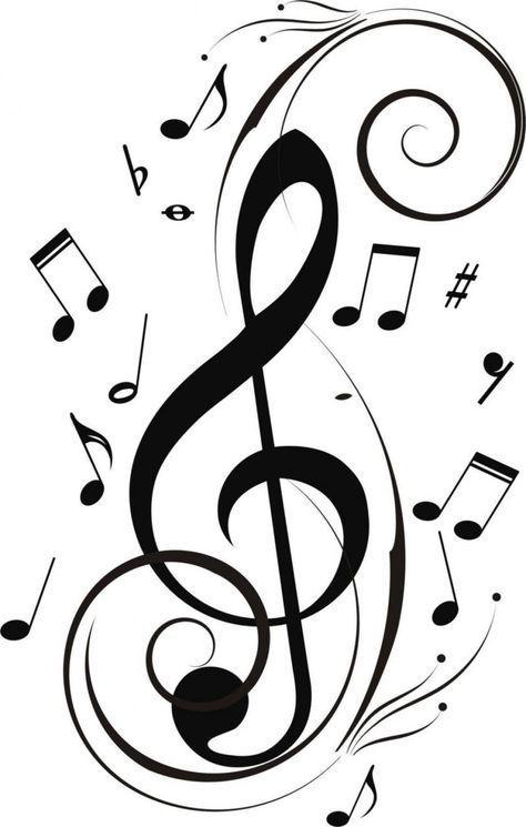 Musical Note Stencil A4//A5//A6