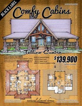 Comfy Cabin Kits | floor plans | Pinterest | Cabin kits, Cabin and Comfy