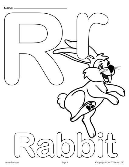 Letter R Alphabet Coloring Pages 3 Printable Versions Alphabet