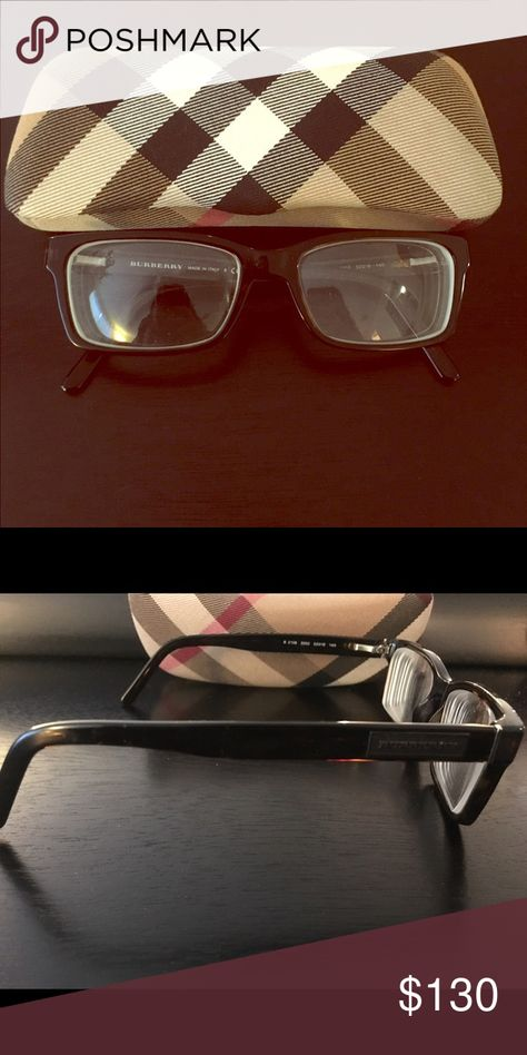 0005fe2416f Men s Burberry prescription frames Dark tortoise prescription frames. Brand  new!!case included Burberry Accessories Glasses