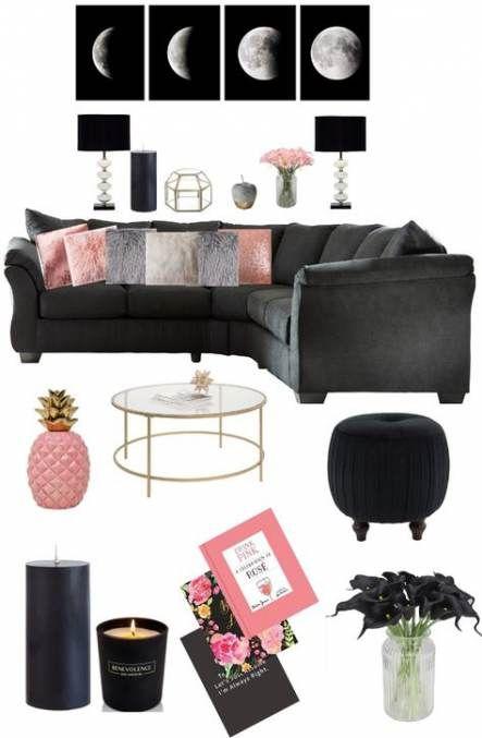 Trendy Living Room Grey Blush Pillows 25 Ideas Black Living Room Decor Living Room Decor Gray Black Living Room