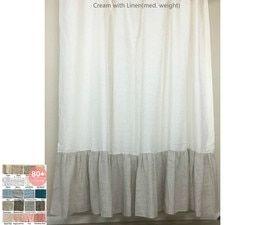 Color Block Curtains Natural Linen Color Block Curtains Pick
