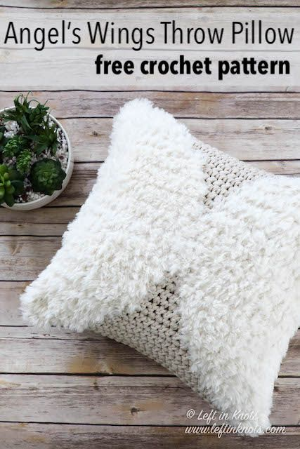 Crochet Phases Throw Pillow Free Pattern Left In Knots Crochet Pillow Patterns Free Crochet Pillow Pattern Modern Crochet