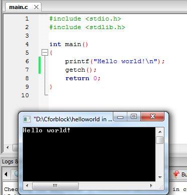 C Language Hello World Program Hello In Languages Language World