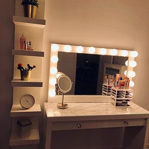 Super Sale Xxl Vanity Mirror 43x27 Hollywood Etsy Lighted