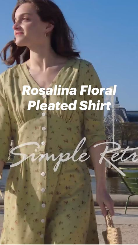 Rosalina Floral Pleated Shirt