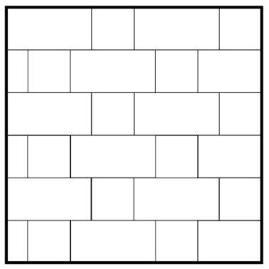 Running Bond 12x24 12x12 Patterned Floor Tiles Shower Tile