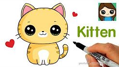 Draw So Cute Youtube Youtube Kitten Drawing Cat Drawing For