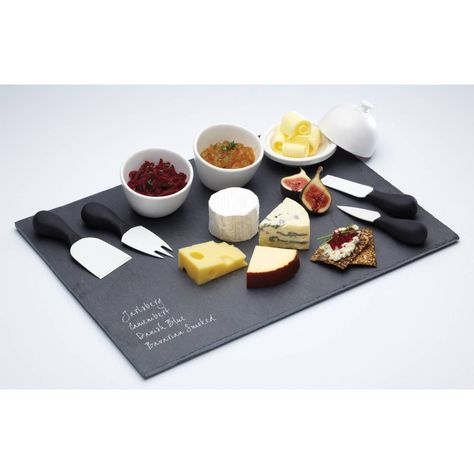 Slate Serving Platter Tray Dishes Plus Handles Dinner Cheese Board in 3 Designs