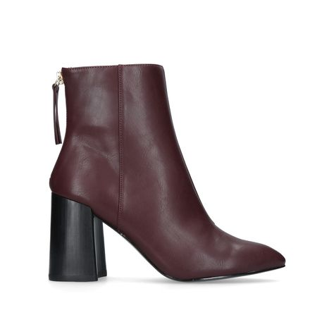 b8ad3bd7ebf Secret Wine Mid Heel Ankle Boots By Miss KG