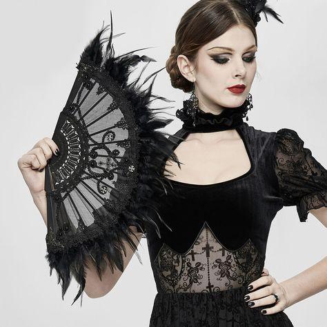 Großer Gothic Burlesque Stehkragen mit Perlenstickerei Federn Stand-Up Collar