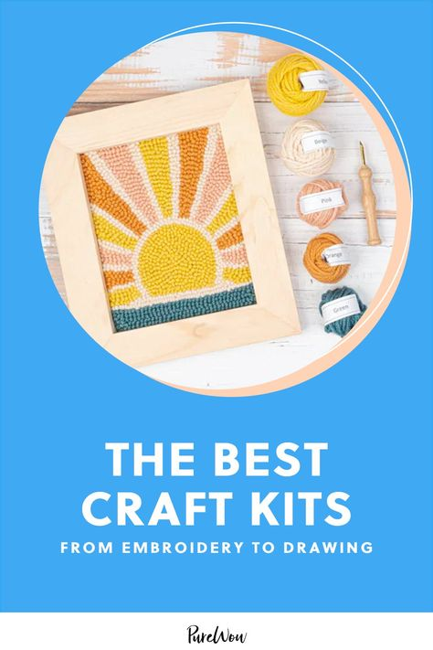 25 Craft Kits—From Embroidery to Drawing—to Keep You Busy Until Spring #purewow #art #shopping #home #crafts #amazon shopping
