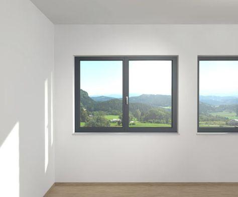 Graue Kunststofffenster Alu Fenster Fenster Holz Alu Fenster
