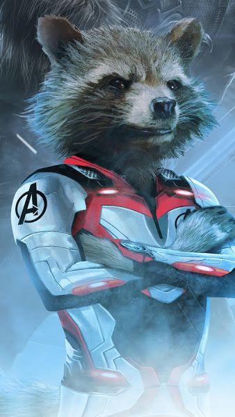 Avengers Endgame Rocket Raccoon White Suit 4k 3840x2160