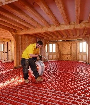 Mansion Goes Green With Polypipe Underfloor Heating Chauffage Au