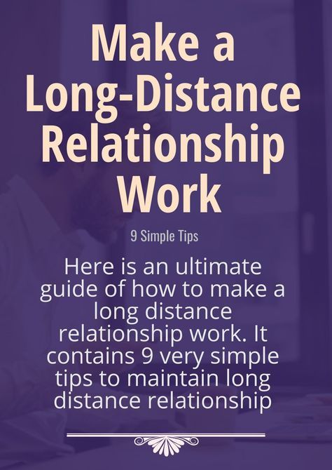 Here is an ultimate guide of how to make a long distance