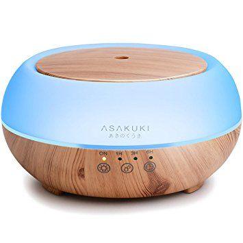 Asakuki Premium Touch Sensitive Essential Oil Diffuser 300ml 5 In 1 Ultrasonic Aromatherapy Fragrant Oil Vaporizer Humidi Best Essential Oil Diffuser Essential Oil Diffuser Essential Oils