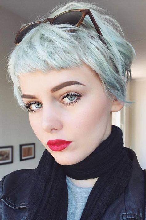 Women Hairstyles For Short Baby Bangs Haircut With Bangs Ideas Curly Hair Styles Short Hair Styles Hair Styles