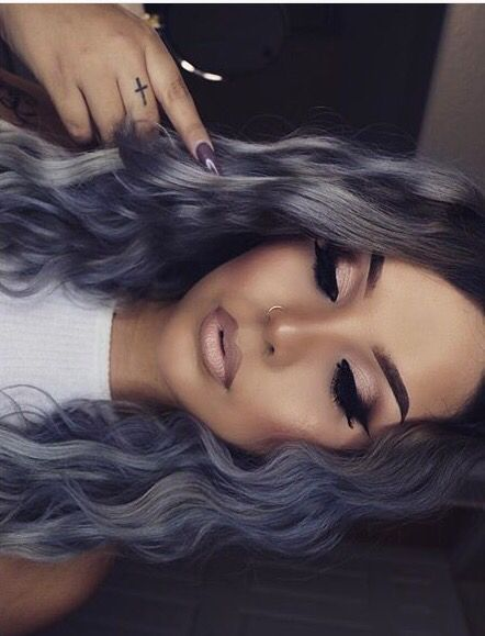 Love the lavender blue color! Use a deep conditioner to keep hair healthy and strong!
