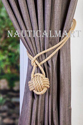Nauticalmart Curtain Tiebacks Knot Hold Backs Ball Curtai Https