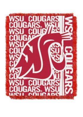 The Northwest Company Ncaa Washington State Cougars Double Play Jacquard Woven Throw - Multi