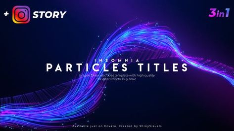 Particles Titles - Insomnia // After Effects