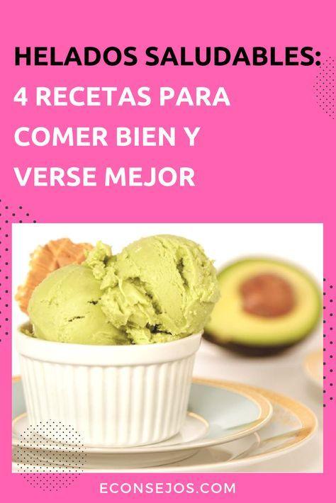 receta helados light caseros