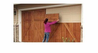 Real Wood Magnetic Garage Door Overlays Garage Doors Modern