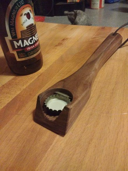 Diy Wood Bottle Opener In 2019 Wood Crafts Diy Candle